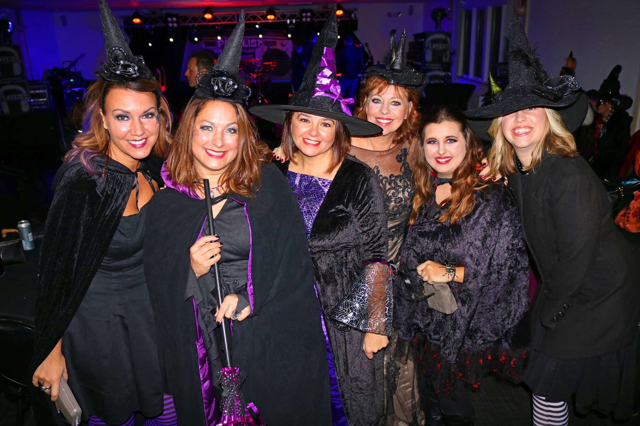 Witches showing off their costumes