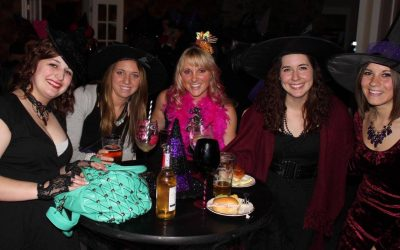 Group of witches enjoying the night